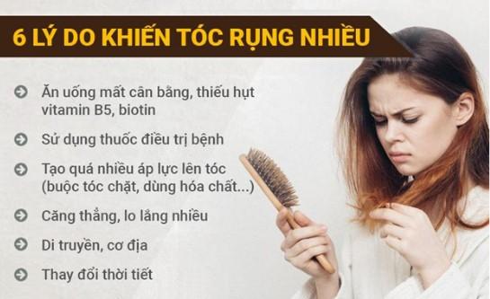 nguyên nhân gây ra tóc rụng nhiều