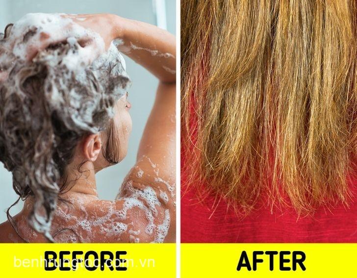 Gội đầu quá nhiêu gây ra tóc chẻ ngọn