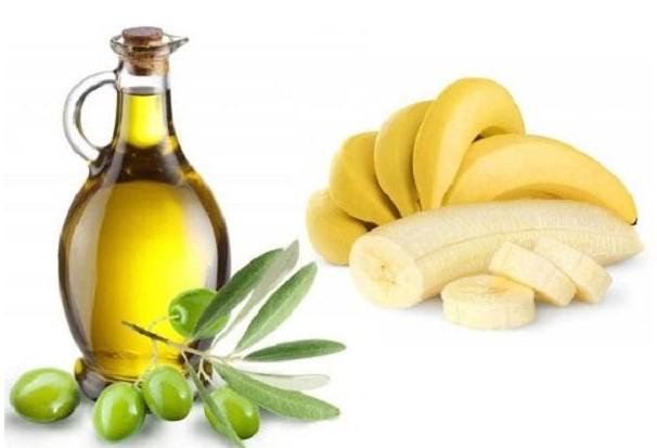 Hỗn hợp dầu ô liu và chuối trị rụng tóc