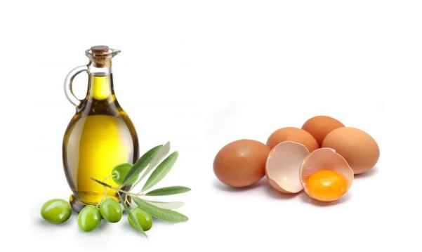 Kích thích mọc tóc bằng dầu ô liu và lòng đỏ trứng gà