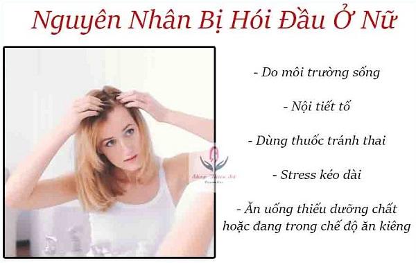 Nguyên nhân gây hói đầu ở phụ nữ