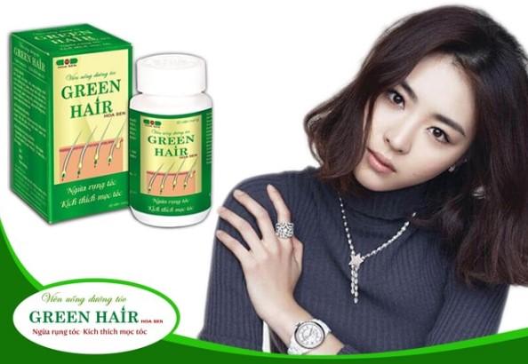 Sử dụng viên uống dưỡng tóc Green Hair Hoa Sen