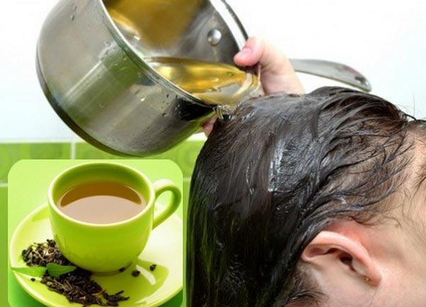 Kết quả hình ảnh cho trị rụng tóc bằng trà xanh