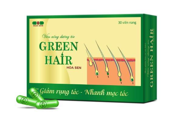 Viên uống dưỡng tóc Green Hair kích thích mọc tóc