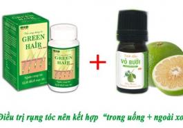 Phép màu cho mái tóc rụng từ sự kết hợp Green Hair và tinh dầu bưởi